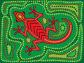 Aboriginal Lizard Stock Photography