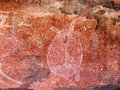 Aboriginal rock art Royalty Free Stock Images