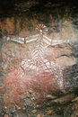 Aboriginal Rock Art - Kakadu Park, Australia Royalty Free Stock Images