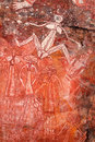 Aboriginal rock art at nourlangie kakadu national park northern territory australia Royalty Free Stock Image
