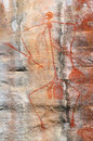 Aboriginal rock art painting representing the story telling of the warrior mabuyo ubirr kakadu national park northern territory Royalty Free Stock Photos