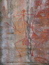 Aboriginal rock paintings Royalty Free Stock Photos