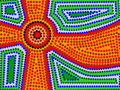 Aboriginal Sun Royalty Free Stock Photos