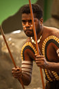 Aborigines actor at a performance Royalty Free Stock Photo
