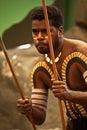 Aborigines actor at a performance in the tjapukai culture park on april in kuranda queensland australia Stock Photography