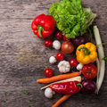 Above aloft art atop background backgrounds bell board carrot carrots cherry chili chopping close cook cooking cutting dinner dire Royalty Free Stock Photos