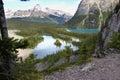Above Mary and O'Hara Lake Royalty Free Stock Photo
