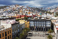 Above Plaza de Santa Ana Royalty Free Stock Photo