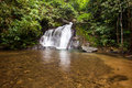Above of punyaban waterfall is in lamnamkraburi national park ranong thailand walk from first floor about m Stock Photography