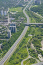 Above Toronto - Don Valley Parkway Stock Image