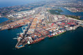 Above view of durban harbor Royalty Free Stock Images