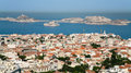 above view Marseilles city and chateau d'if island Royalty Free Stock Photo