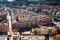 Above view of rome from st peter basilica in vatican italy Stock Photography