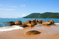 Abraao beach ilha grande rio de janeiro state brazil in the beautiful island of near in Stock Photo