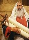 Abraham Holding Scroll Royalty Free Stock Photo
