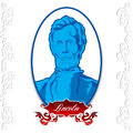 Abraham lincoln day portrait of placed on a white background Royalty Free Stock Photography