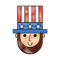 Abraham lincoln with hat comic character