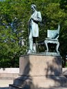 Abraham lincoln the man this is a summer picture of one of most famous statues of located in park in chicago illinois Royalty Free Stock Photo
