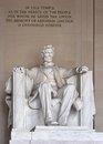 Abraham lincoln memorial washington a national shrine Stock Image