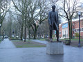 Abraham lincoln monument located in the south park blocks in portland oregon united states the foot statue was donated by henry Stock Image