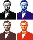 Abraham lincoln my caricature in the different colors Royalty Free Stock Images