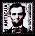 Abraham Lincoln Postage Stamp Royalty Free Stock Photo