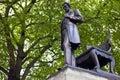 Abraham lincoln statue i london Royaltyfria Bilder