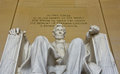Abraham Lincoln statue in the Lincoln Memorial in Washington DC Royalty Free Stock Photo