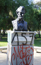 Abraham Lincoln Statue in Parque Forestal in Santiago Royalty Free Stock Photo