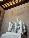 Abraham Lincoln statue in Washington DC Stock Photos