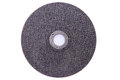 Abrasive disks for metal grinding cutting on white background Stock Image