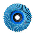 Abrasive flap disc close up blue color number isolated on white Stock Photography
