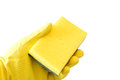 Abrasive sponge glove and double sided Royalty Free Stock Photography