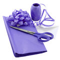 Abrigo de regalo púrpura Fotos de archivo libres de regalías