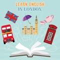 Abroad Language School flat design
