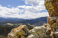 Absaroka beartooth range rocky mountains exhibit their rough rugged rocky terrain overlooking crandall sunlight basin Stock Image