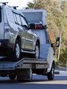Abschleppwagen geladen Lizenzfreies Stockbild