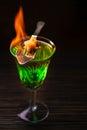 Absinthe Prepared For Drinking