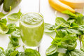 Absolutely Amazing Tasty Green Avocado Shake or Smoothie, Made with Fresh Avocados, Banana, Lemon Juice and Non Dairy Milk Royalty Free Stock Photo