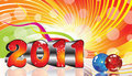 Absract colorful new year 2011 theme Royalty Free Stock Images