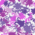 Absract floral seamless pattern