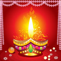 Absrtract diwali background with deepak Royalty Free Stock Photo