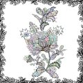 Vector Floral Illustration in nice textile