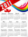 Abstract 2011 calendar Stock Photography