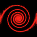 Abstract 3d black and red background Stock Images