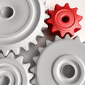 Abstract 3D concept of gear wheels Royalty Free Stock Photos