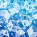 Abstract 3d cubes in technology style. Stock Images
