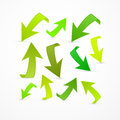 Abstract 3d Green Arrow Icons Royalty Free Stock Photo