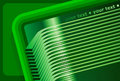 Abstract 3D Green Background Stock Image