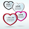 Abstract 3D heart speech bubble background. Royalty Free Stock Photos